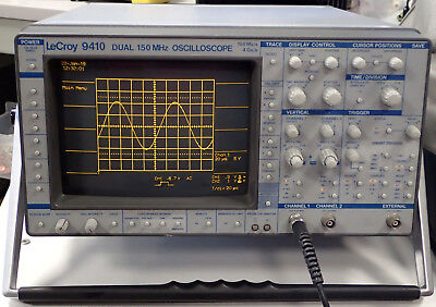 Lecroy 9410 Dual Channel 150 Mhz Digital Oscilloscope100 Mss4 Gss - Works