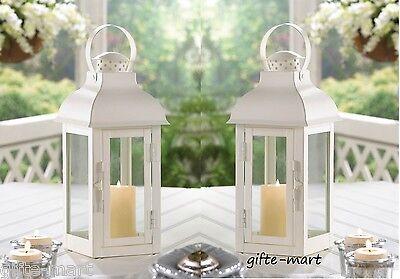 "6 matte White 13"" Candle holder Lantern Lamp light wedding table centerpiece L"