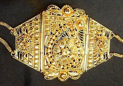 22k Gold Arm (22K Gold Plated Indian Bollywood Fashion Bajubandh Upper Arm Bracelet 1 pc set/, )