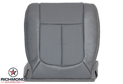 2011-2016 Ford F250 F350 F450 F550 XL - Driver Side Bottom Vinyl Seat Cover Gray
