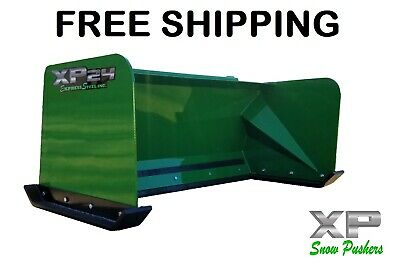5 Xp24 John Deere Snow Pusher Box Free Shipping-rtr Tractor Loader Snow Plow