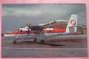 Frontier-Airlines-DeHavilland-Canada-DHC-6-Twin-Otter-Aircraft-Airline-Postcard