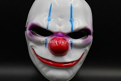 Halloween Payday 2 (PAYDAY 2 Resin Heist Joker Clown Mask Cosplay Halloween Party Prop Fast)