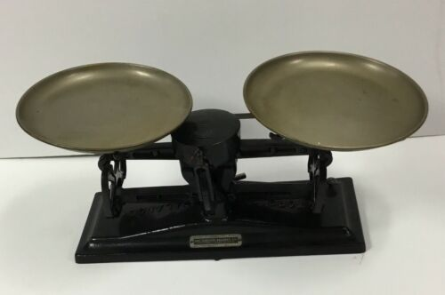 Antique The Torsion Balance CO NY Cast Iron Scale Grams Vintage Pharmacy VTG
