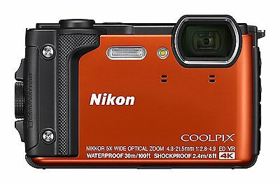 Nikon COOLPIX W300 OR Orange Waterproof Digital Camera Wi-Fi 2017 Japan New