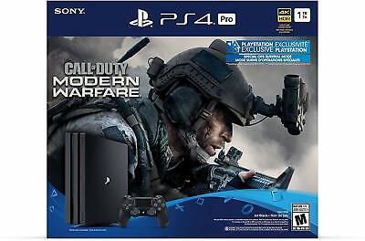 PS4 Pro 1TB Call of Duty Modern Warfare Bundle Sony PlayStation