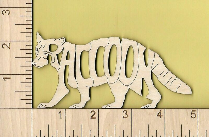 Raccoon laser cut and engraved Magnet Great Gift Idea