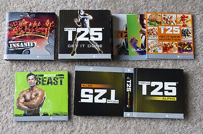 Beachbody - Focus T25 Alpha/Beta + Insanity + Body Beast DVD Sets. 23 DVDs!