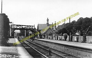 Onibury Railway Station Photo. Craven Arms & Stokesay - Bromfield. Ludlow Line