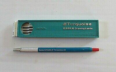 ENGLAND EAGLE TURQUOISE 10, MECHANICAL, DRAFTING DRAWING PENCIL WITH LEADS Mechanical Drafting Pencils