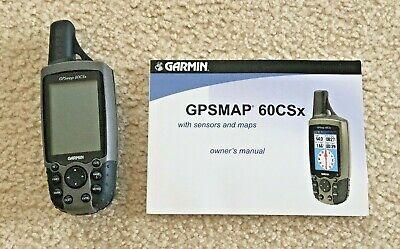 Garmin GPSMAP 60CSx Handheld GPS with Owners Manual 190-00482-00