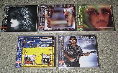 GEORGE HARRISON Japan PROMO remaster CD x 5 full set THE BEATLES obi BONUS TRACK