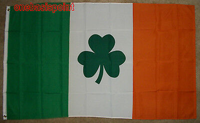 3'x5' Ireland with Clover Leaf Flag Irish Outdoor Banner Celtic Shamrock Big 3X5