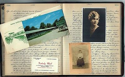 1960s HANDWRITTEN WOMANS DIARY ~ Broad Brook,Hartford Co.,Connecticut CT History