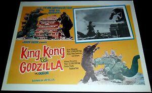 1962-King-Kong-vs-Godzilla-ORIGINAL-LOBBY-CARD-Ishiro-Honda-JAPANESE-SCI-FI-D