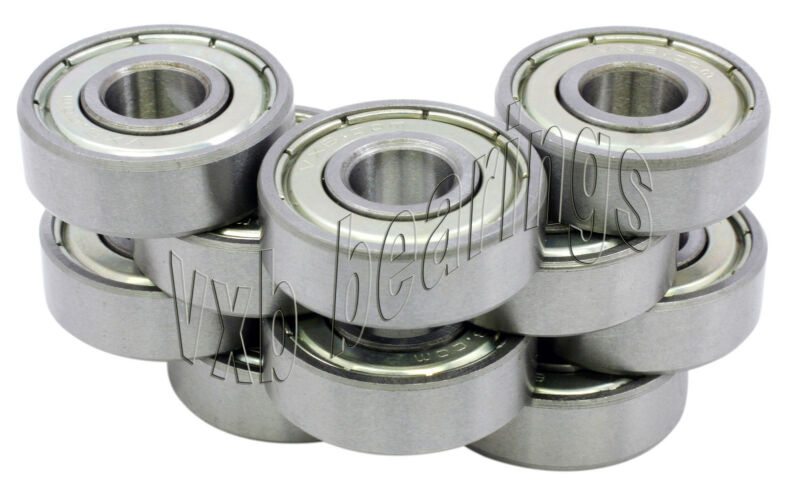 Pack of 10 Balls Bearing 608ZZ ID/Bore 8mm/22mm/7mm 608Z By VXB Bearings 608