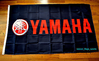 Yamaha Flag Banner 3x5 ft Japanese Motorcycle Manufacturer Black  for sale  Shipping to Canada