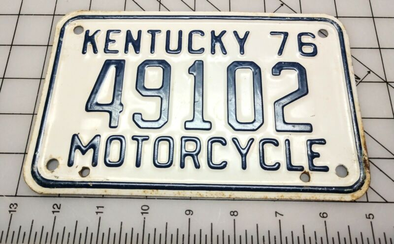 1976 Kentucky Motorcycle License Plate