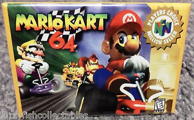 """Mario Kart N64 MAGNET 2""""x3"""" Fridge Locker Nintendo Vintage Game Box"""