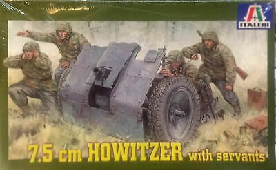 Italeri 7.5 cm Howitzer with servants Ref 6400 Escala 1:35