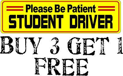 Student Driver All Weather Bumper Sticker 8.8