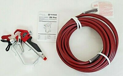 Bagged Titan Rx Pro Tr1 538024 Airless Paint Sprayer Gun With 14 3300 Psi Hose