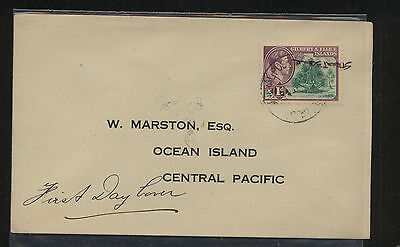 Golbert  and  Ellice Islands   first day cover          MS0827