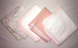 Organic cotton blanket x 3 + Floral Cotton blanket x 1