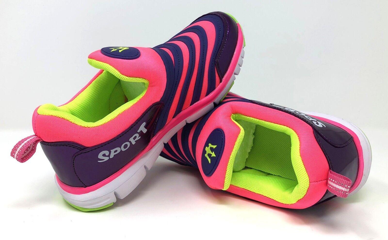 Bambine Ragazze Abbigliamento Sportivo Scarpe da Ginnastica Slip Comodo UK