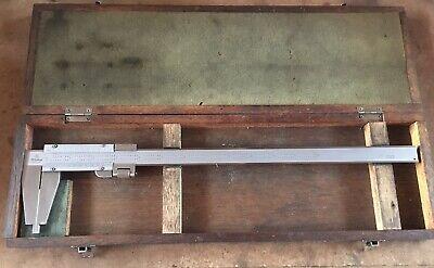 Mitutoyo 0-12 Vernier Caliper W Original Wood Case