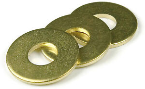 Brass Flat Washer 3/8 Small, Qty 25