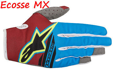 2018 Alpinestars Radar Vuelo Guantes XL Amarillo Rojo Aqua Motocross Enduro MTB