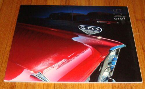 Original 2005 Pontiac GTO Deluxe Sales Brochure