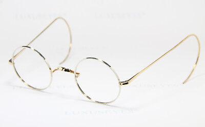 B&S 40-22 14Kt Gold Filled Brille Eyeglasses Occhiali Gafas Antik Rund Double