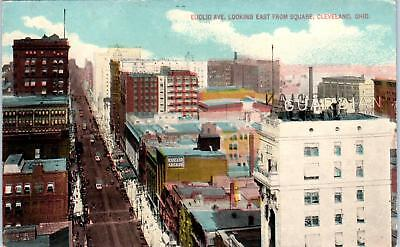For sale CLEVELAND, OH Ohio EUCLID AVE Looking East 1914 Postcard