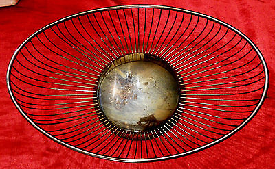 Eales 1779 Wire Basket Silver Plated Holloware Modern Art Deco Mid Century VTG  for sale  Pittsburgh