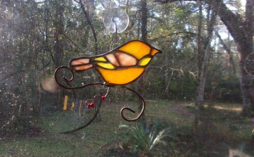 Stained Glass Songbird Suncatcher handmade New