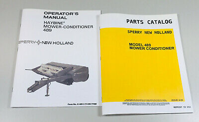 Sperry New Holland 489 Haybine Mower Conditioner Operators Parts Manual Catalog