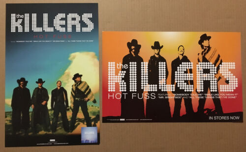 The KILLERS Rare 2004 DOUBLE SIDED PROMO POSTER for Hot Fuss CD USA 11x17 MINT