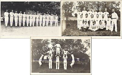 1910s Kronborg Nebraska Men Gymnast Gymnastics Team Acrobat Real Photo Postcards