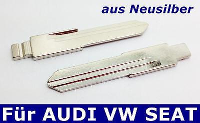 2x Llave Plegable Tornos Llave Del Coche De Alpaca para Audi VW...