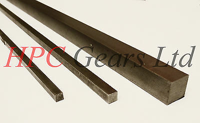 Metric Key Steel Square Bar Keyway 8mm x 150mm BS4235 8x8 HPC Gears