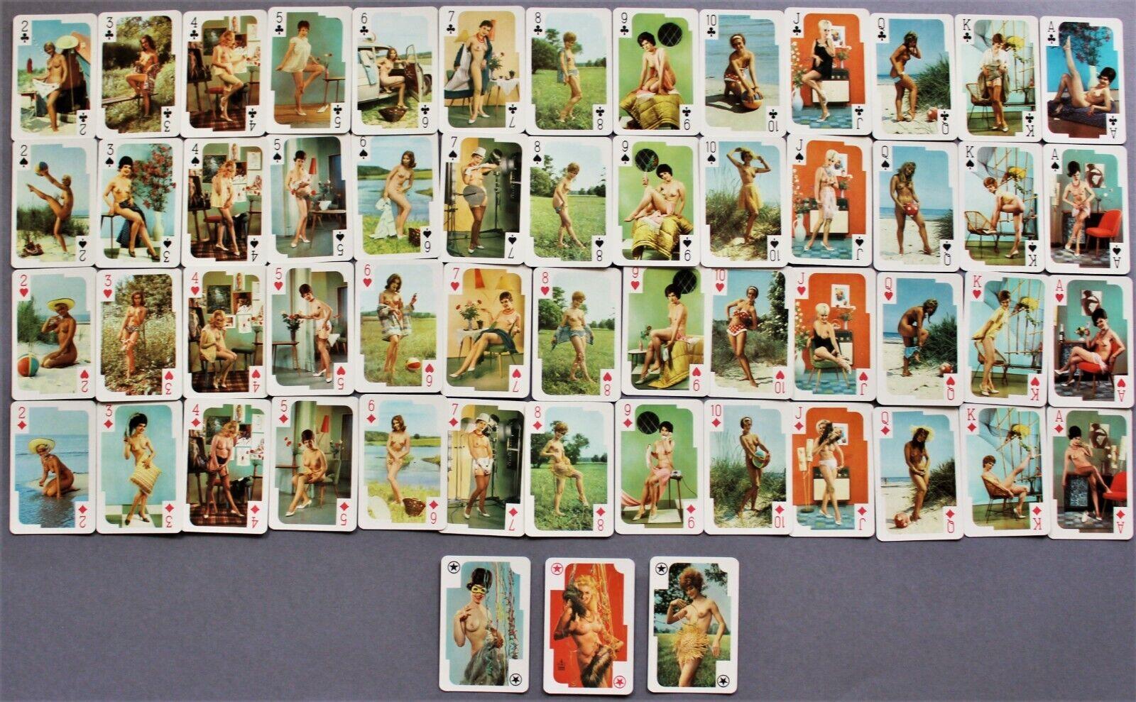 altes PinUp Erotik Kartenspiel 522 1970er Jahre, playing cards