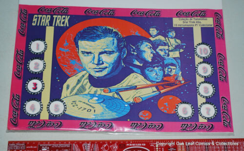 Star Trek TV series Complete Bottle Cap Set 10 Brazil Coca Cola Coke