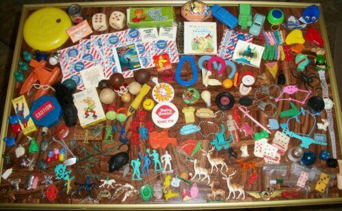 Huge Lot Vintage Cracker Jack Toys Gumball Vending Machine Prizes