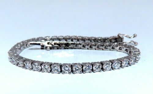 7.02ct Natural Diamonds Tennis Bracelet 18 Karat