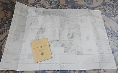 vtg MAP OSGOOD MOUNTAINS HUMBOLDT CTY NEVADA 1961 USGS MINERAL INVESTIGATIONS