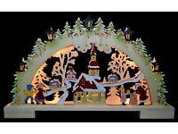 3D Led Lichterbogen Schwibbogen Erzgebirgische Weihnacht 1-135 mit Adapter