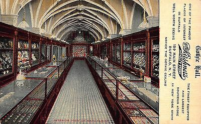 Postcard Gothic Hall @ N.M. Kirshner's Novelty Store in Buffalo, New (Stores In Buffalo Ny)