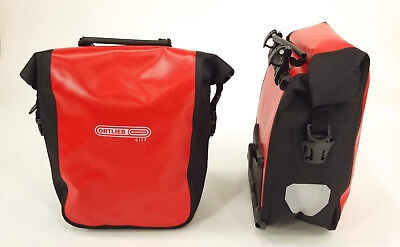 - Ortlieb Sport-Roller City Bicycle Front Panniers, Pair, Red/Black